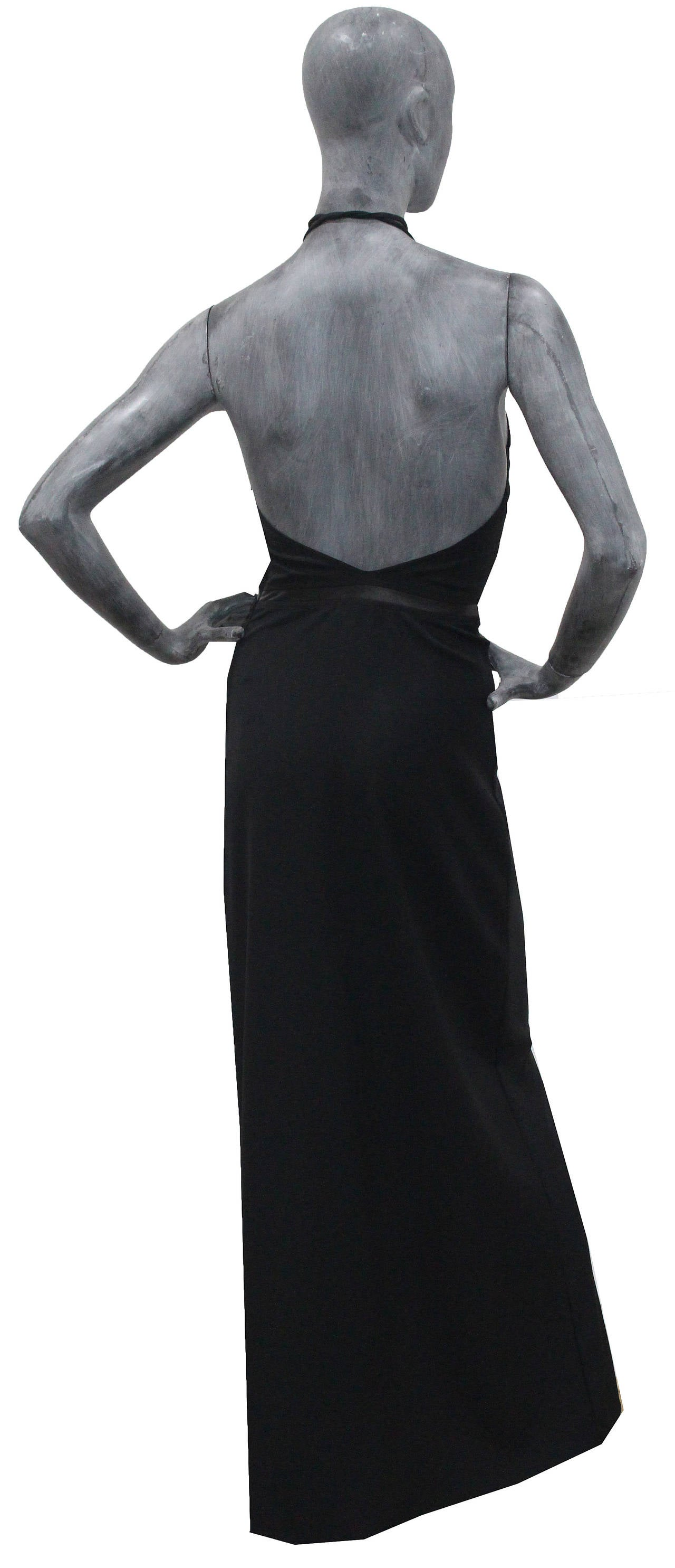 Unworn 90s Tom Ford for Gucci Black Choker Evening Dress 4