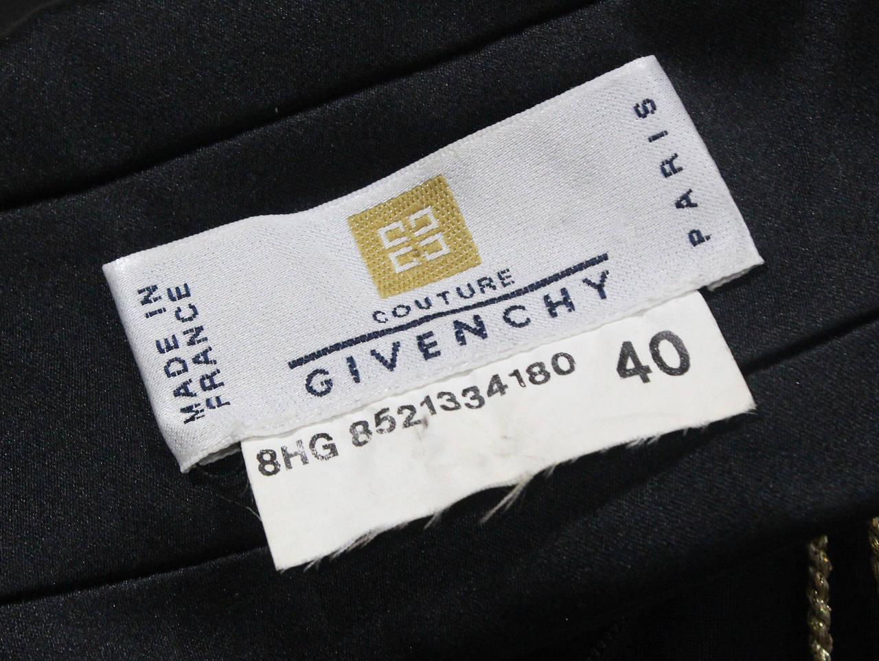 1990s Givenchy by Alexander McQueen Black Silk Evening Dress (Unworn) 6