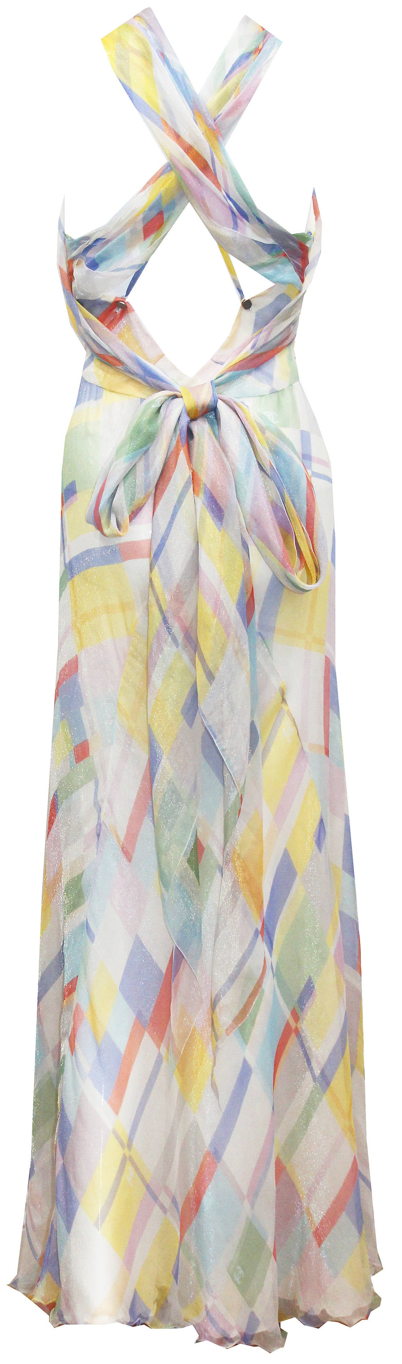 A pastel palette silk chiffon scarf dress by chanel c for I see both sides like chanel shirt
