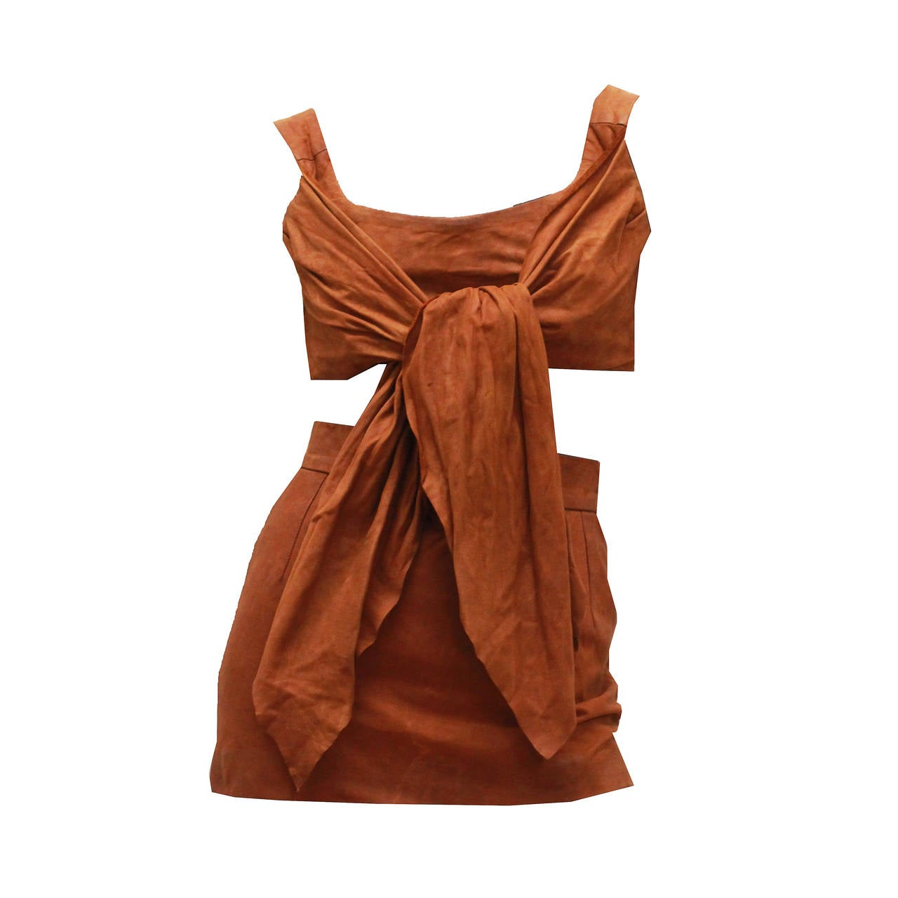 1980s Vivienne Westwood Leather Corset and Mini Skirt Ensemble 1