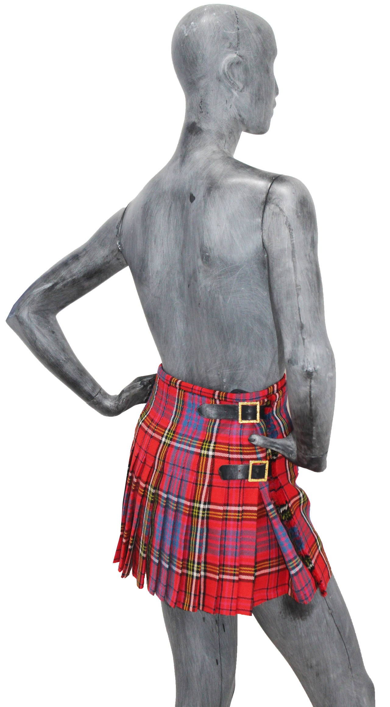 The iconic punk Vivienne Westwood pleated kilt skirt c. 1994 5