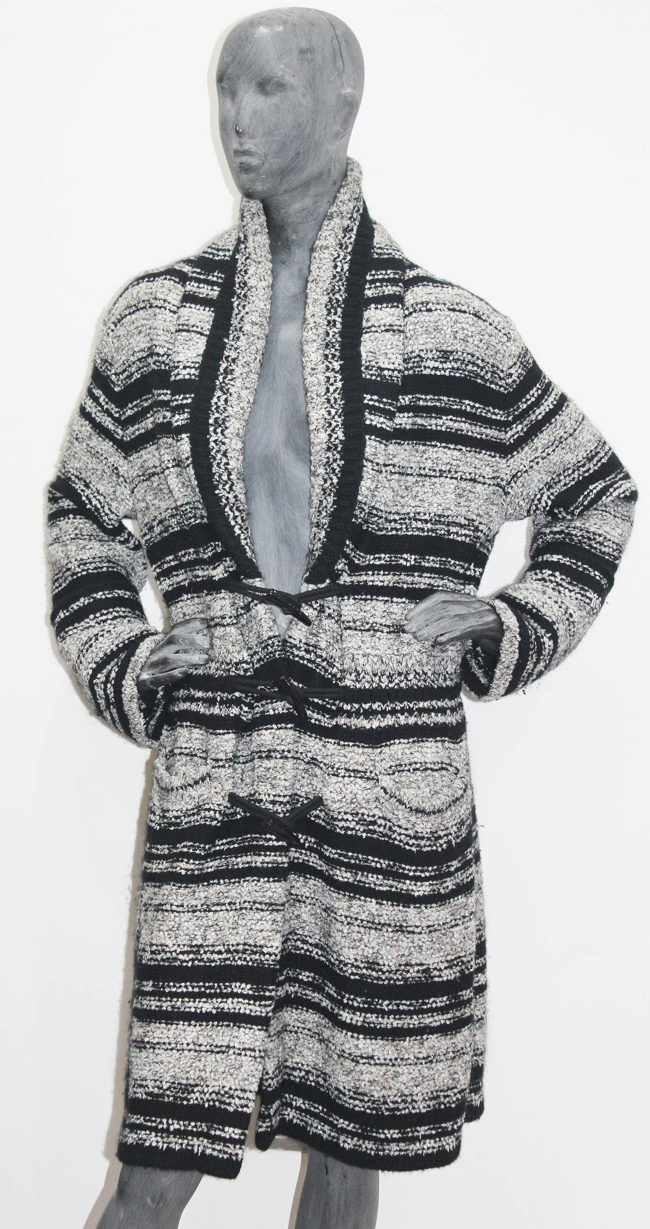 Chanel Oversized Knitted Tweed Cardigan Coat c. 2006 2