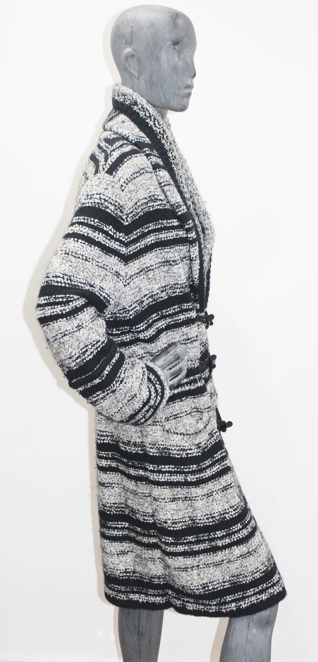 Chanel Oversized Knitted Tweed Cardigan Coat c. 2006 3