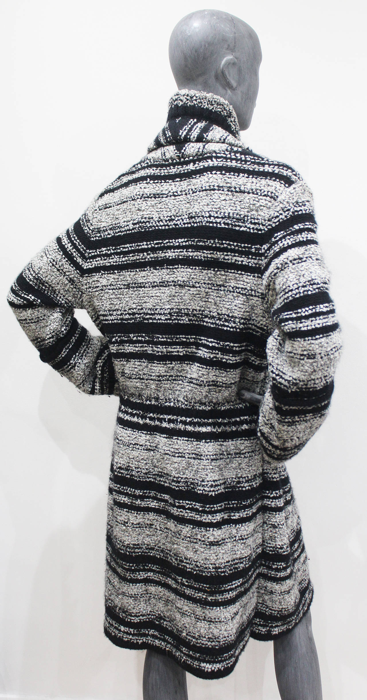 Chanel Oversized Knitted Tweed Cardigan Coat c. 2006 4