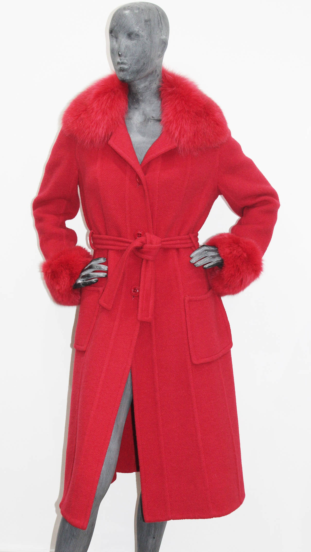 Exceptional 1960s red fox fur and tweed fall coat from THE WHITE HOUSE 3