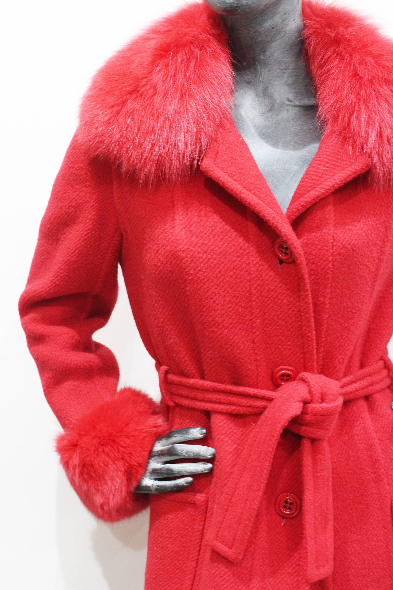 Exceptional 1960s red fox fur and tweed fall coat from THE WHITE HOUSE 4