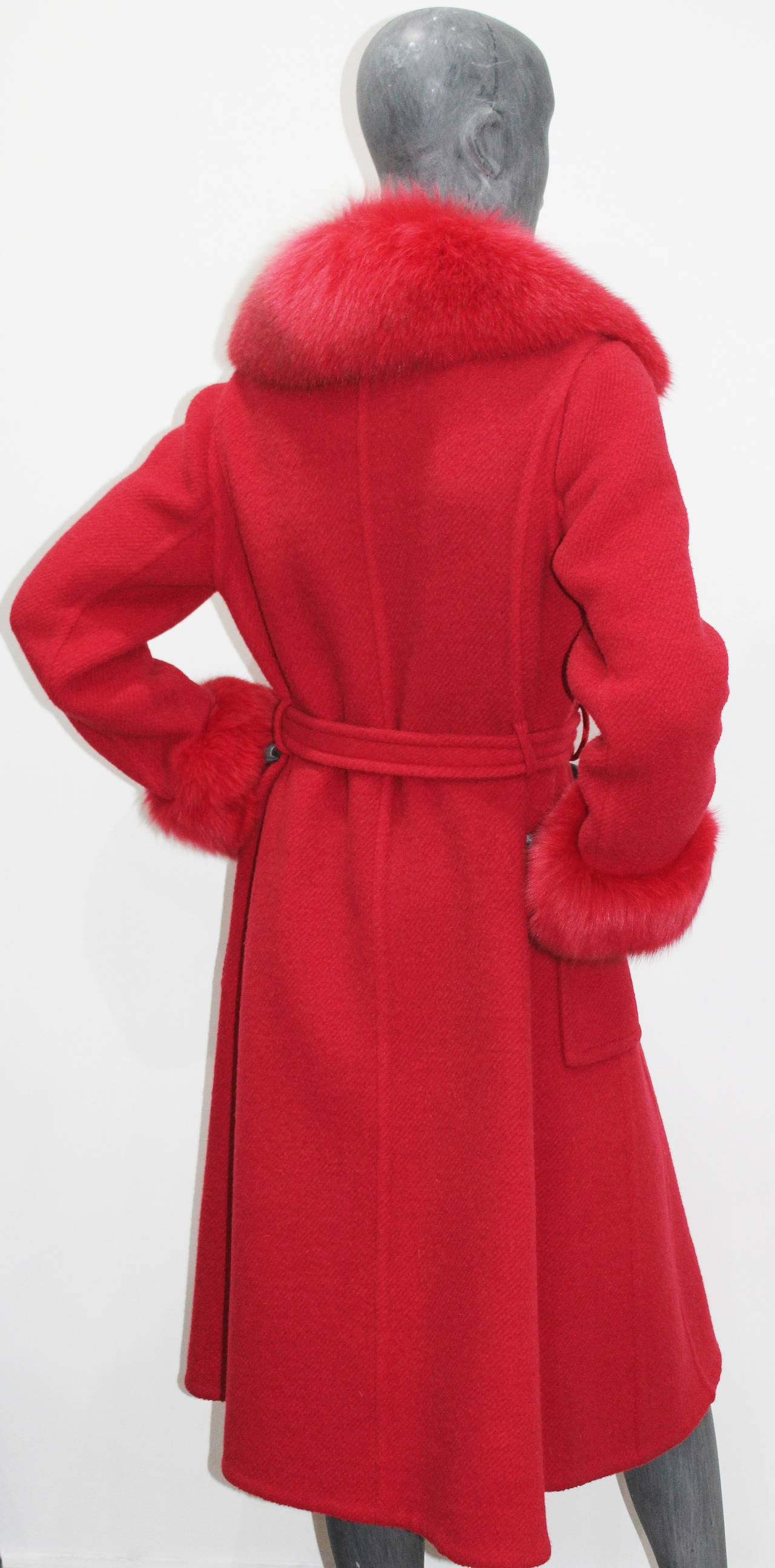 Exceptional 1960s red fox fur and tweed fall coat from THE WHITE HOUSE 5