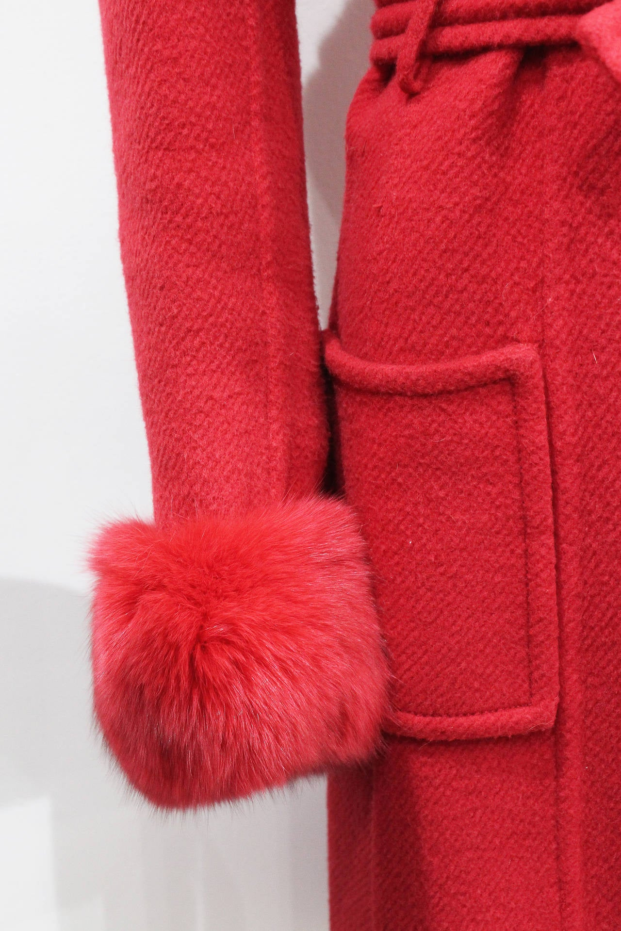 Exceptional 1960s red fox fur and tweed fall coat from THE WHITE HOUSE 2