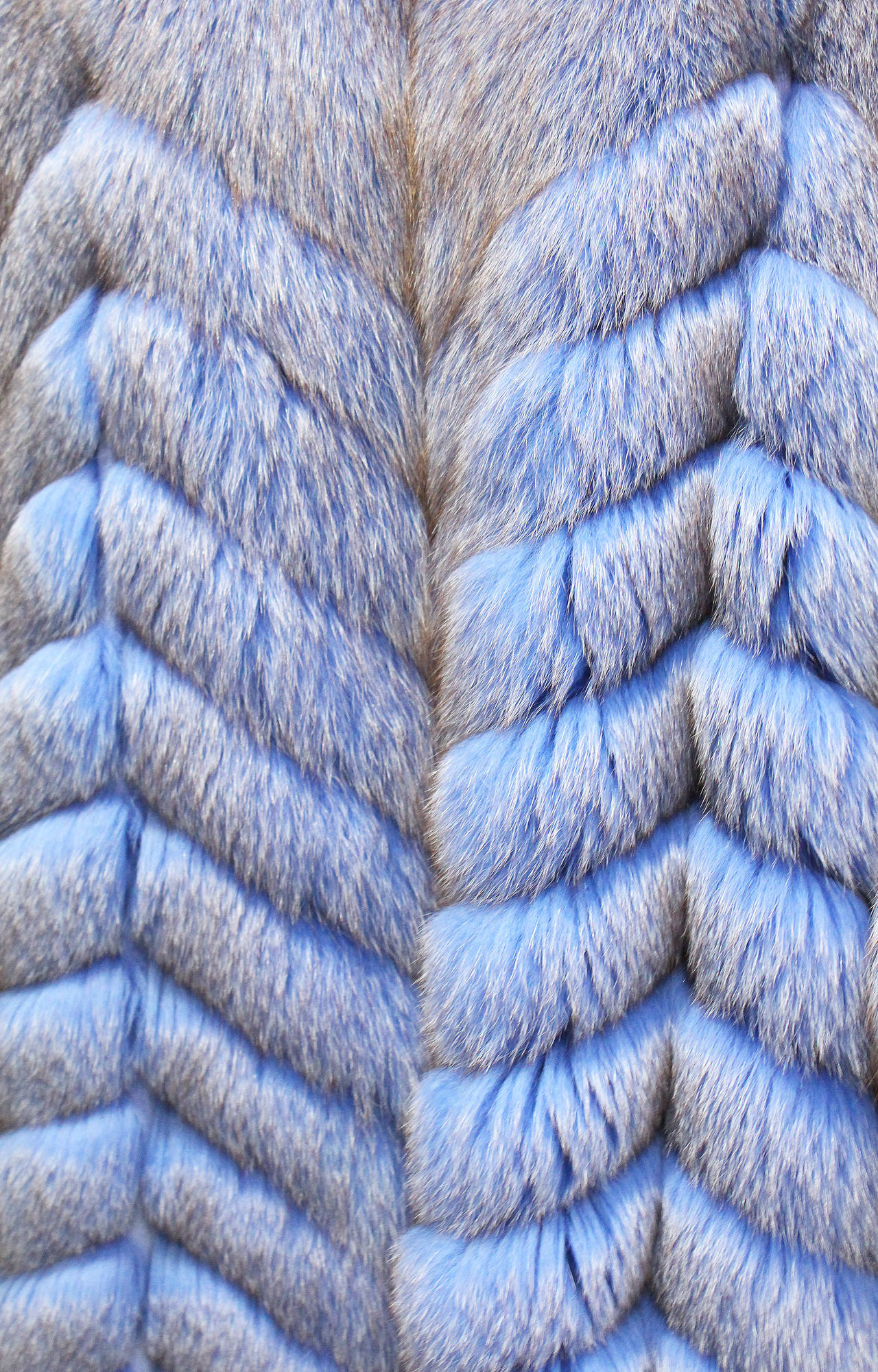 Exceptional 1980s Swiss Oversized Blue Fox Fur Coat 3