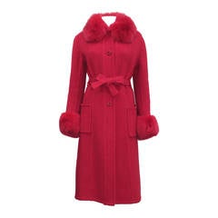 Exceptional 1960s red fox fur and tweed fall coat from THE WHITE HOUSE