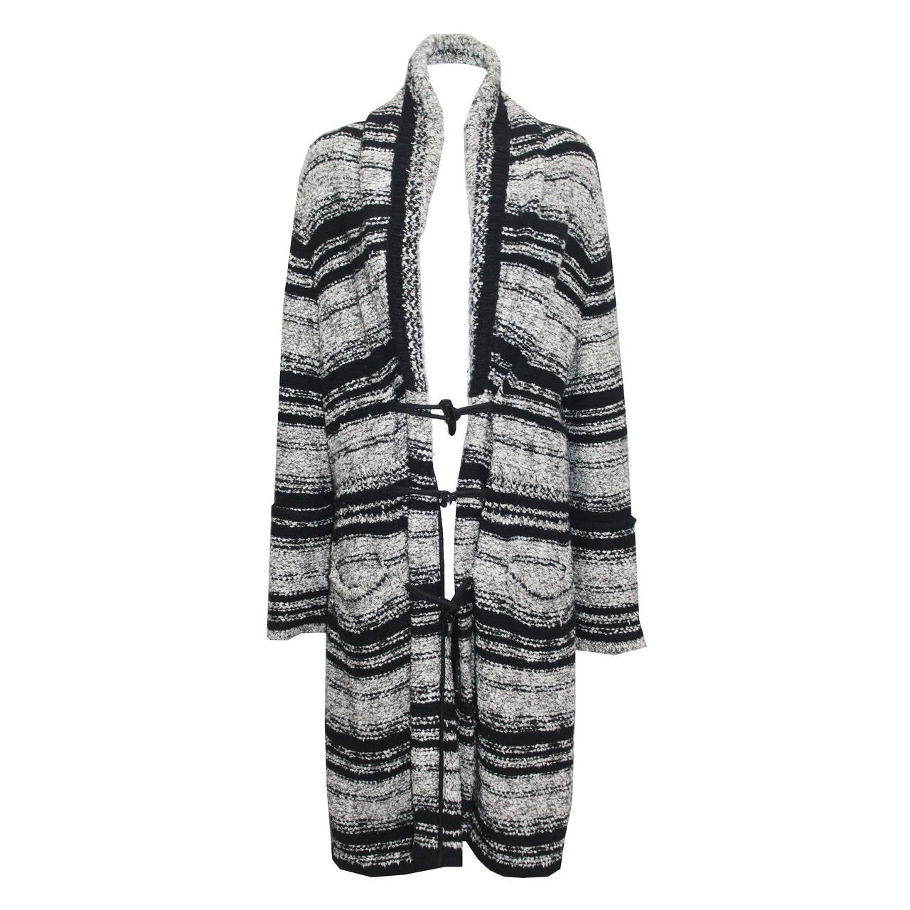 Chanel Oversized Knitted Tweed Cardigan Coat c. 2006 1