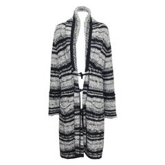 Chanel Oversized Knitted Tweed Cardigan Coat c. 2006