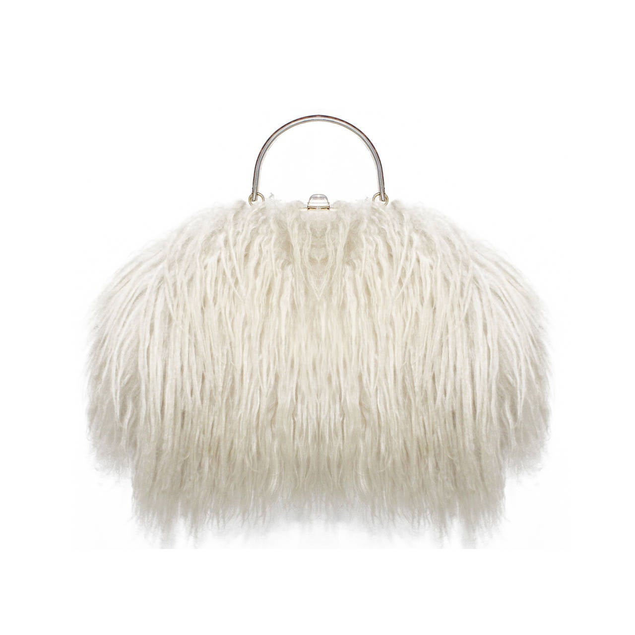 0f5d641f2d1 Fine and Rare 1960s XL Mongolian Lamb Fur Purse Bag For Sale at 1stdibs
