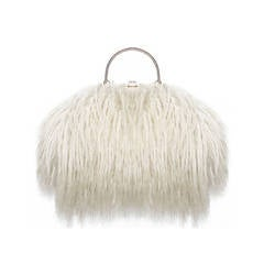 Fine and Rare 1960s XL Mongolian Lamb Fur Purse Bag