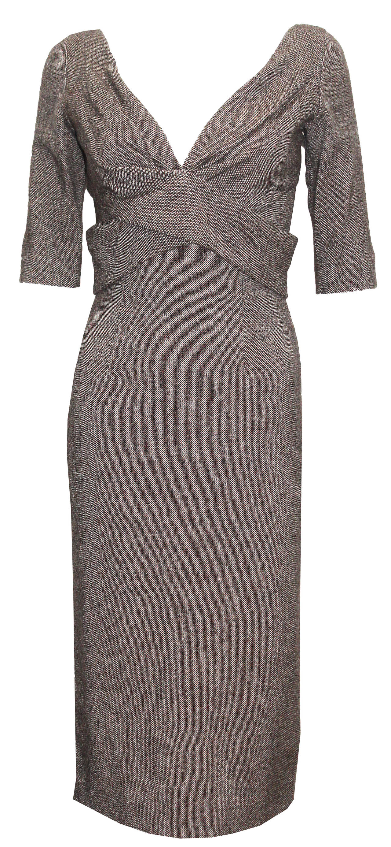 Gray Alexander McQueen Runway Pin-up 50s inspired dress (Autumn/Winter 2005) For Sale