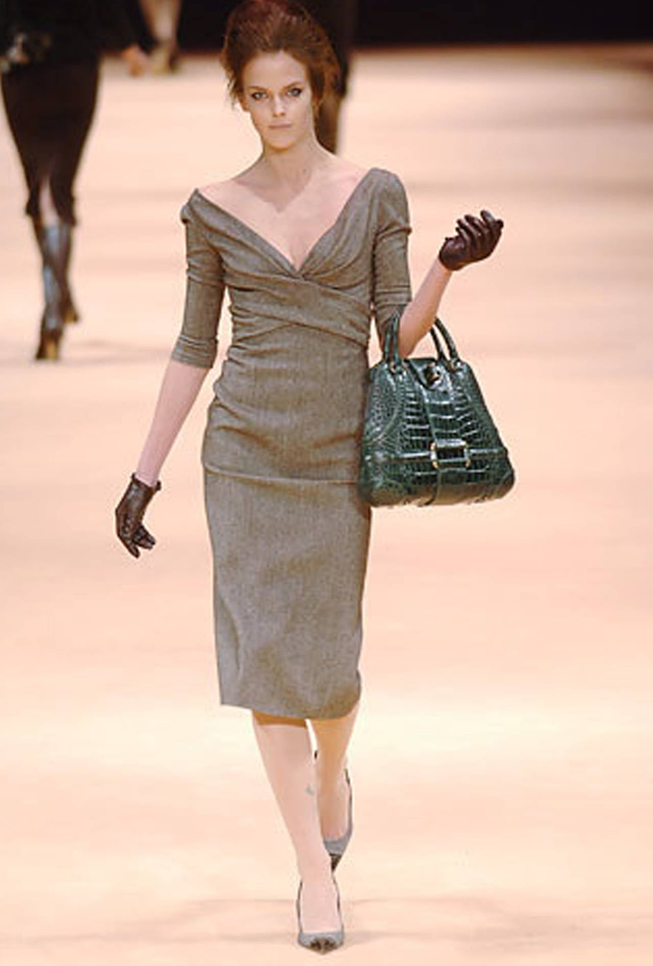 Women's Alexander McQueen Runway Pin-up 50s inspired dress (Autumn/Winter 2005) For Sale