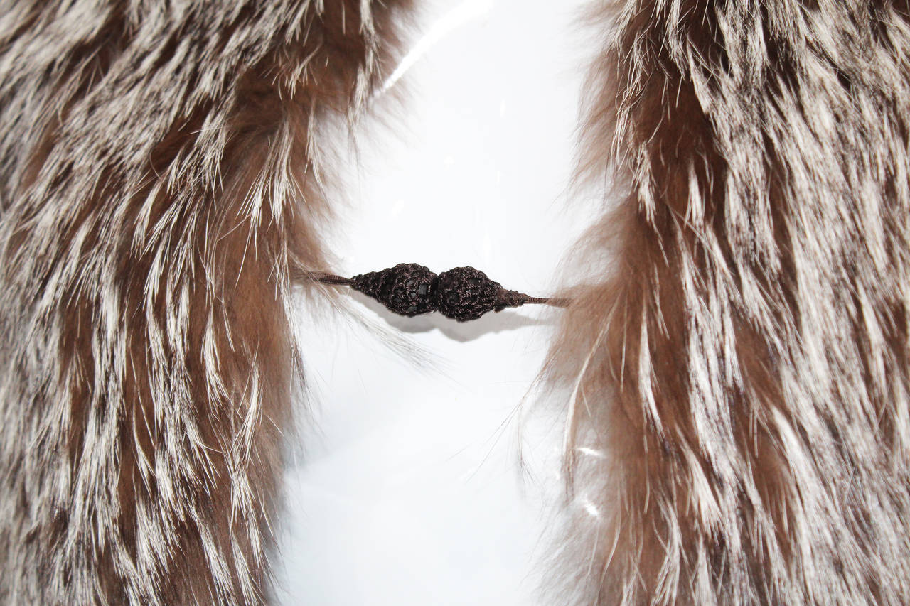 Tom Ford for Yves Saint Laurent Coyote Fur Evening Capelet 2