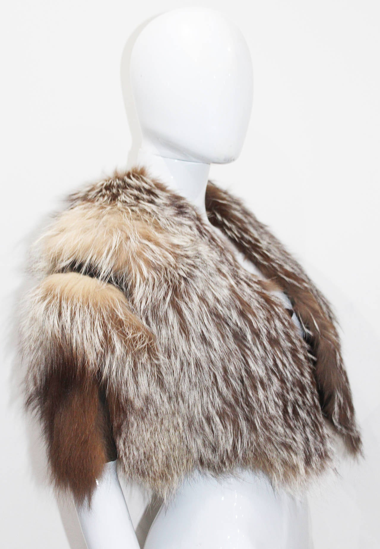 Tom Ford for Yves Saint Laurent Coyote Fur Evening Capelet 3