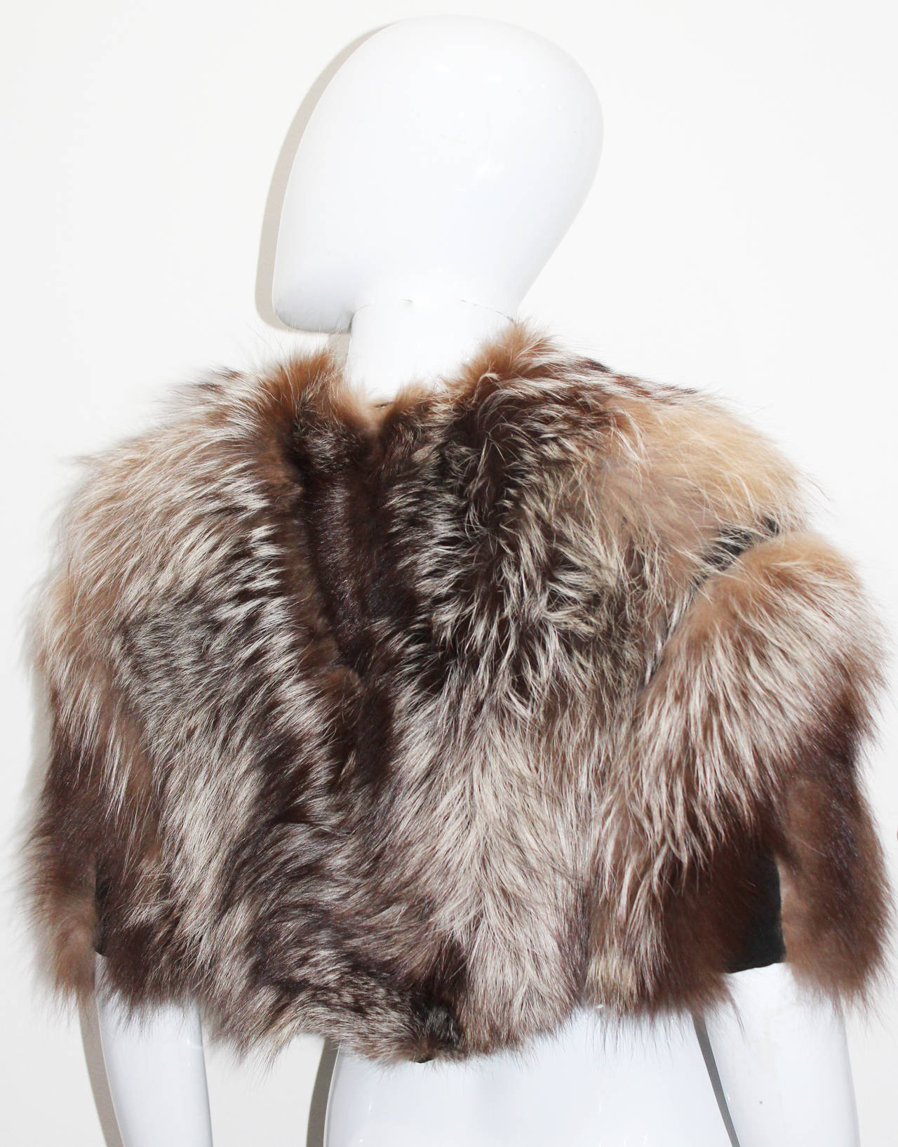 Tom Ford for Yves Saint Laurent Coyote Fur Evening Capelet 4