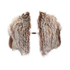 Tom Ford for Yves Saint Laurent Coyote Fur Evening Capelet