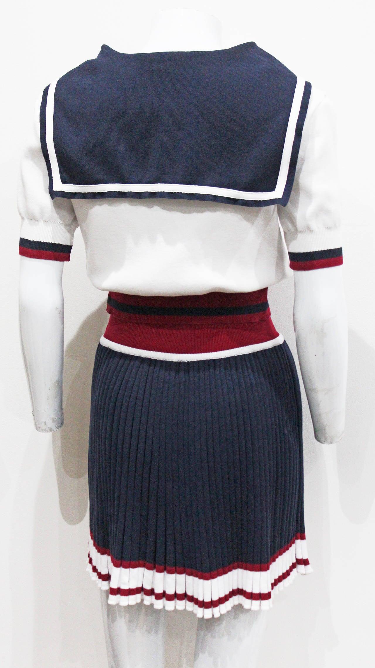 Vivienne Westwood nautical inspired 2 piece skirt suit, Spring/Summer 1995 2