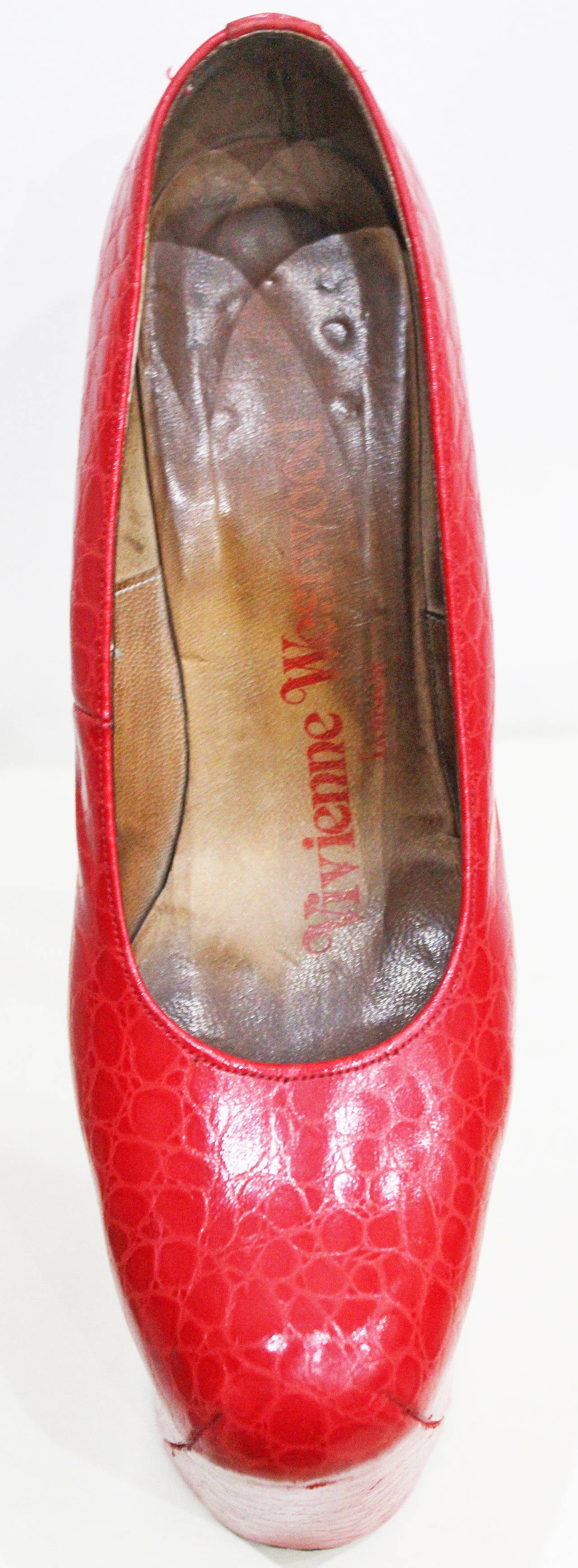 Iconic Vivienne Westwood Super elevated court shoe c. 1993 5