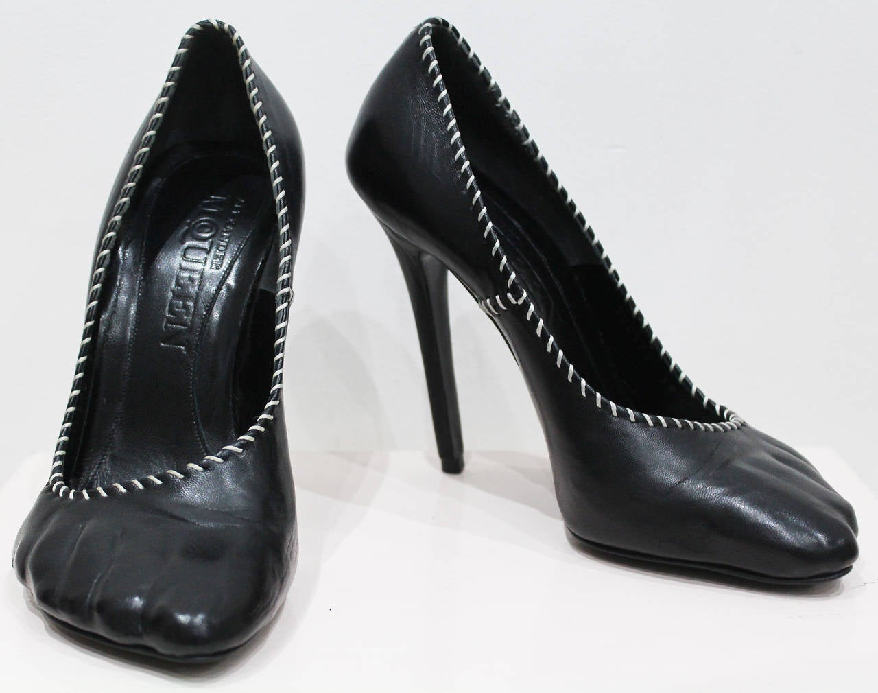 Collectible Alexander McQueen runway moulded 'toe' leather ...