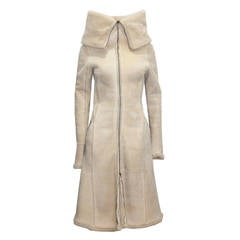 Alexander McQueen Runway Sheepskin Coat 'PANTHEON AS LECUM' Fall 2004