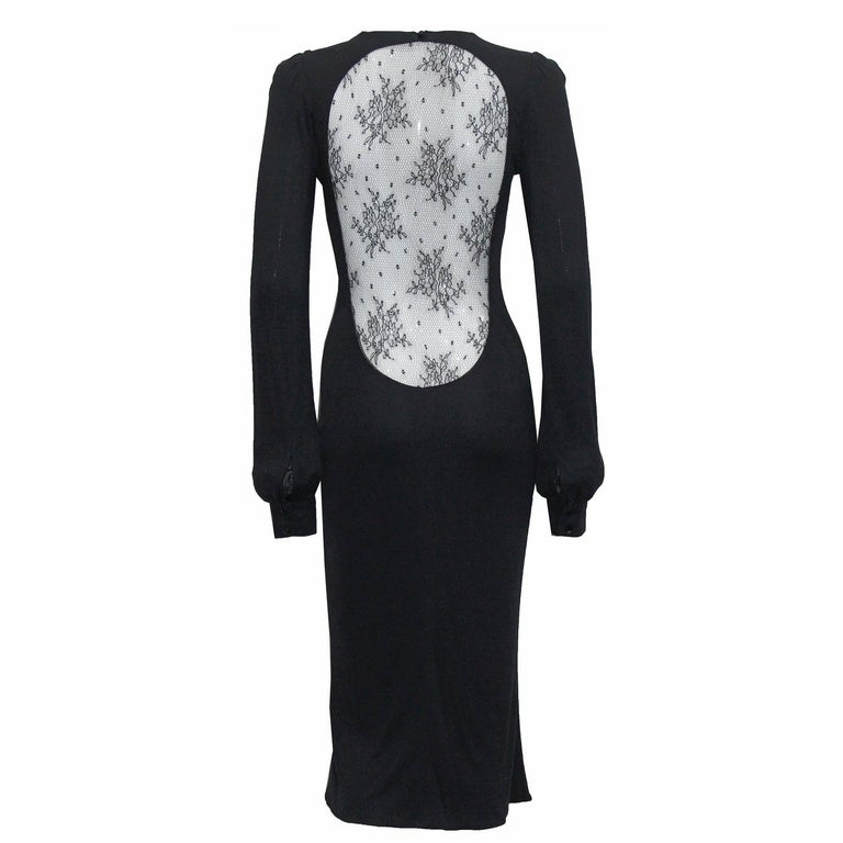 Alexander McQueen 'Hitchcock' Runway Lace Back Dress, F/W 2005 For Sale