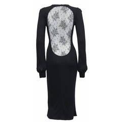 Alexander McQueen 'Hitchcock' Runway Lace Back Dress, F/W 2005