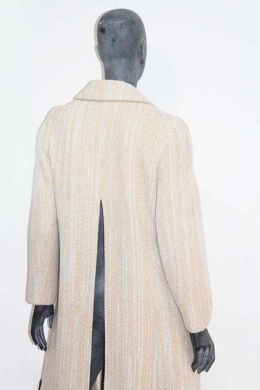 Chanel full length tweed coat with back slit, Fall 2001 3