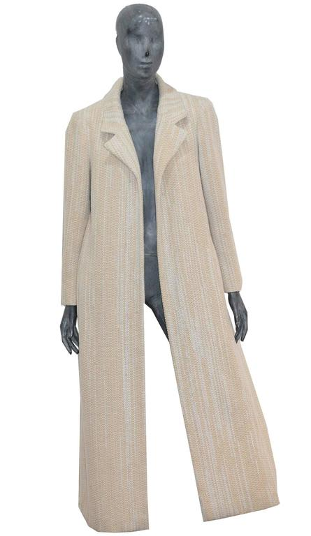 Chanel full length tweed coat with back slit, Fall 2001 2