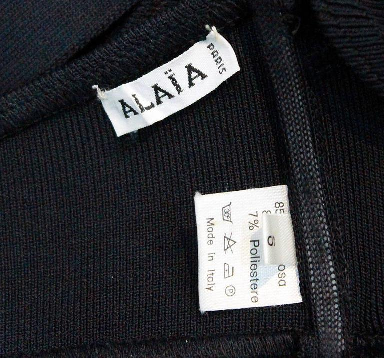 important Alaia black bondage bra top c. 1987 5