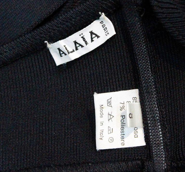 Women's important Alaia black bondage bra top c. 1987 For Sale