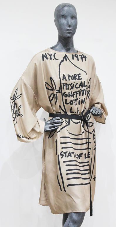 Jean Charles De Castelbajac graffiti silk caftan, new/unworn 3