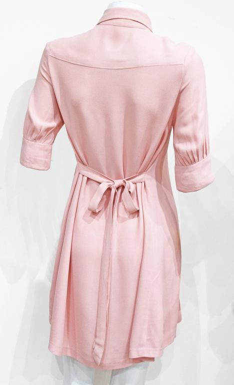 1960s Ossie Clark Baby Pink Mini Dress  4