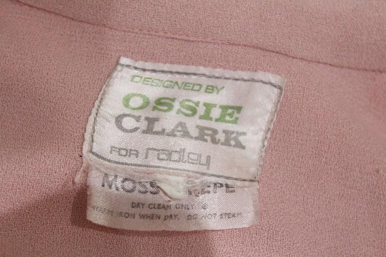 1960s Ossie Clark Baby Pink Mini Dress  5