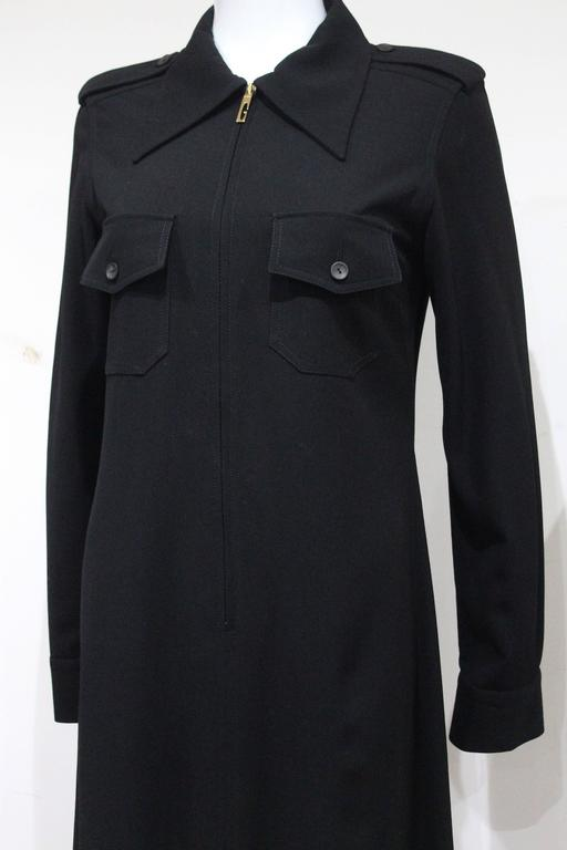 1990s Tom Ford for Gucci black safari style maxi dress c. 1996 4