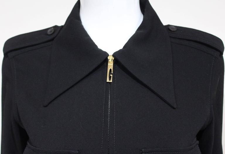 1990s Tom Ford for Gucci black safari style maxi dress c. 1996 2