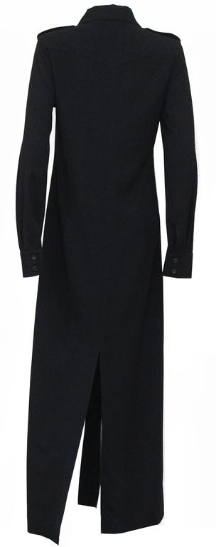 Women's 1990s Tom Ford for Gucci black safari style maxi dress c. 1996 For Sale