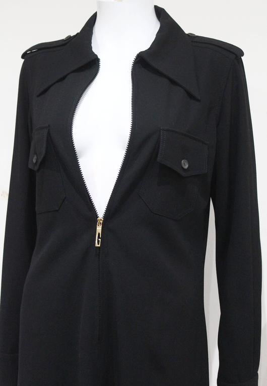 1990s Tom Ford for Gucci black safari style maxi dress c. 1996 3