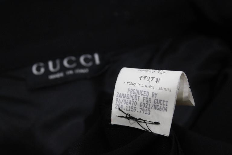 1990s Tom Ford for Gucci black safari style maxi dress c. 1996 6