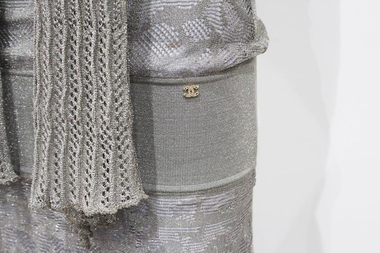 Chanel 1920s style flapper dress with scarf  3