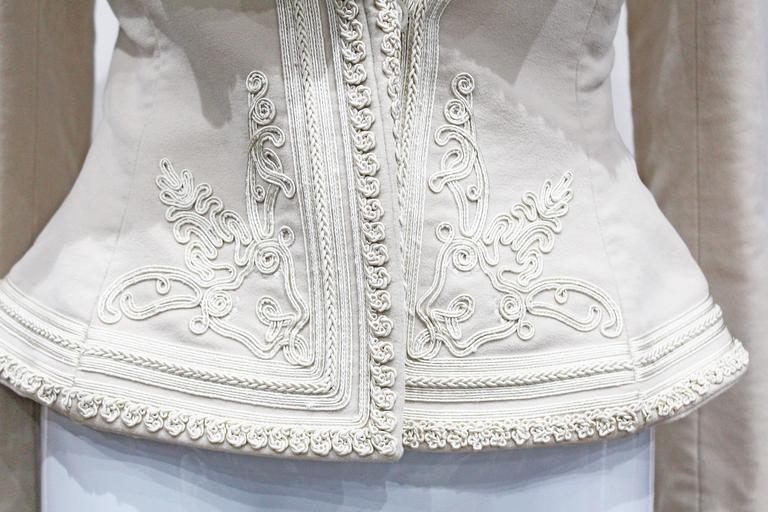 Exceptional Alexander McQueen embroidered tailored runway jacket, Fall 2005 3