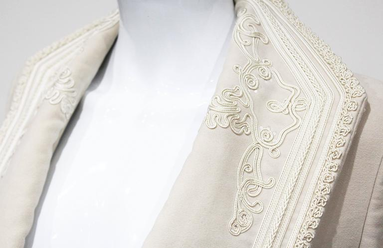 Exceptional Alexander McQueen embroidered tailored runway jacket, Fall 2005 4