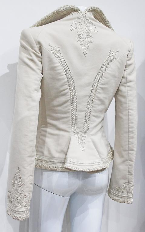 Exceptional Alexander McQueen embroidered tailored runway jacket, Fall 2005 6
