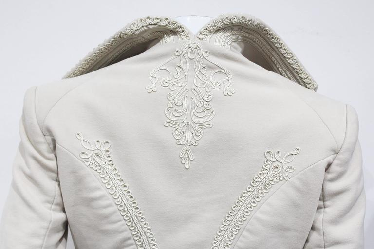 Exceptional Alexander McQueen embroidered tailored runway jacket, Fall 2005 2