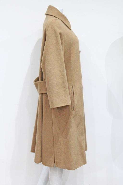 1970s Hermes Camel Hair Swing Coat  2