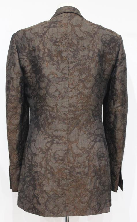 Tom Ford for Gucci mens silk brocade marbled tuxedo jacket c. 1990s  In Excellent Condition For Sale In London, GB