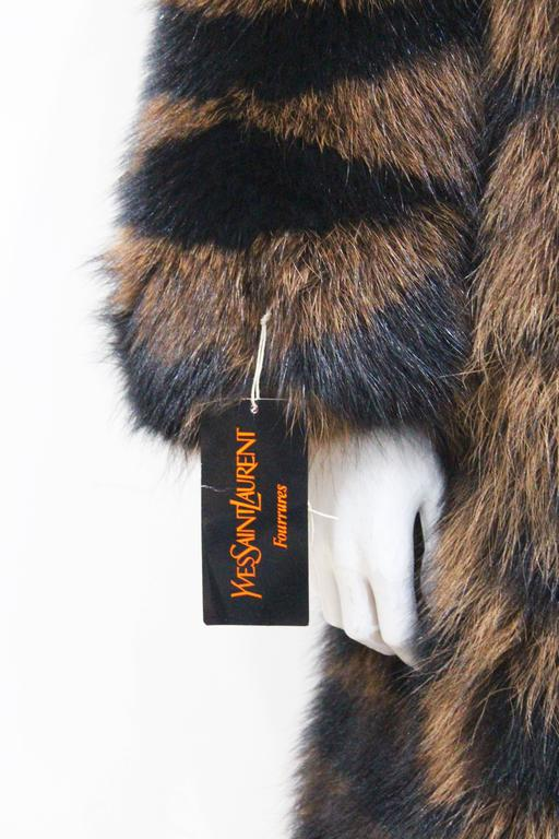 Exceptional Yves Saint Laurent Beaver Fur Coat c. 1980s 2
